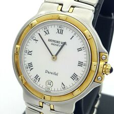 Genuine Unisex Raymond Weil Geneve Parsifal Two Tone Watch