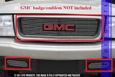 GTG 1998 - 2003 GMC Sonoma 3PC Polished Overlay Combo Billet Grille Grill Kit