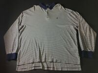 Polo Ralph Lauren Mens Blue White Striped Long Sleeve Sweater Size 2XL