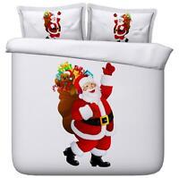 3D Santa Presents O377 Christmas Quilt Duvet Cover Xmas Bed Pillowcases Fay