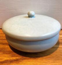 CELADON Porcelain Trinket Box Covered Dish Signed Exc