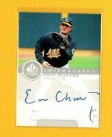 1998 SP Top Prospects Autographs #EC Eric Chavez Visalia Oaks Auto Baseball Card