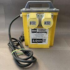 Defender 110v 3KVA Portable Transformer For Site Power Tools E203010 2 x 16A