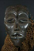 African MANU PWO mask - CHOKWE tribe, D.R. Congo, TRIBAL ART PRIMITIVE