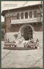 PAVIA DORNO 05 FACCIATA ASILO INFANTILE BONACOSSA - BAMBINI Cartolina viagg 1917