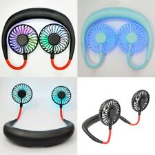 Portable Dual Cooling LED Sport Fan USB Rechargeable Neckband Lazy Neck Ha Nice