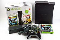 Microsoft XBOX 360 Elite Console 120GB Black w/ Original Box, Controller & Games