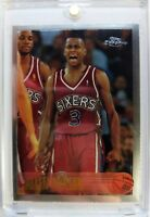 1996 96 TOPPS CHROME Allen Iverson ROOKIE RC #171, 76ers The Answer, HOF ,Sharp!