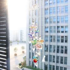 Crystal Suncatcher Colorful Angel Pendant Handmade Pendant Xmas Tree Decor Gift