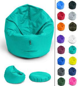 Sitzsack 2in1 Sitzkissen 32 Farben & 3 Größen Bean Bag Indoor Sitzsäcke Outdoor