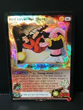 DBZ CCG RED LEVERAGE BLAST 116 HOLO FOIL RARE LIMITED FUSION SAGA DRAGON BALL Z