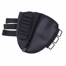 Hunting Rifle Stock Ammo Bullet Pouch with Cheek Leather Pad for Right Hand