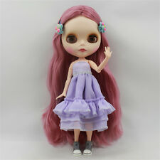 NEW 1/6 Neo Blythe Nude Doll From Factory Pink Long Hair Matte Face Jointed Body