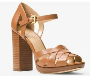 Michael Kors Annaliese Embossed-Leather Platform Sandal Size 8M Brand NEW