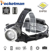 Powerful XHP50.2 Fishing LED Headlamp USB Rechargeable Headlight Head Torch