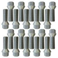 20 Extended Wheel Bolts tapered M14x1,5 35mm for VW Amarok Beetle Bora Caddy CC