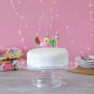 PREMIUM 3D Tropical Cake Candles, Birthday Cake, Cake Topper