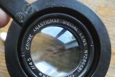 Cooke Anastigmat Special 5 1/2 inch 140mm 1:4.5 Triplet Lens NICE