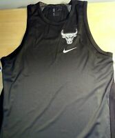 Chicago Bulls jersey Sleeveless Tee  black silver Nike  NBA 865474-010