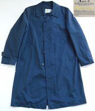 AQUASCUTUM Aqua 5 Rain Coat Made in England Navy Blue Button Front Women's L