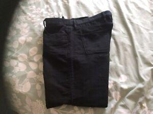"""Mens M&S Collection Black Moleskin Jeans - 42"""" Waist / 29"""" Leg"""