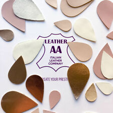 MIX 24 piece Leather Teardrop blanks, Beige Pink genuine leather earring shapes