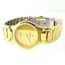 RADO FLORENCE Date Quartz Gold Electroplated & Steel Men's Watch 129.3757.2