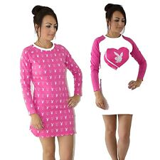 Womens Playboy Pack of 2 Nightshirts Loungewear in Pink Pb1 WD 10