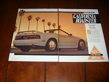 MAZDA RX7 CALIFORNIA ROADSTER RACING BEAT  ***ORIGINAL 1989 ARTICLE***