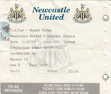 Ticket - Newcastle United v Crystal Palace 02.01.99 FA Cup