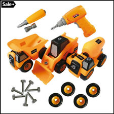 Kids Assembly Take A Part Toy Trucks Construction Vehicle + Drill For Boys Gift