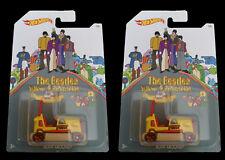 Lot of 2 The Beatles Car Bump Around 1 Of 6 Yellow Submarine Hot Wheels Mattel
