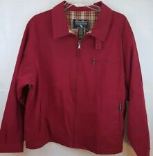 EDDIE BAUER Mens Shell Jacket Deep Red Full Zip Outdoor Outfitters Lined Sz XL