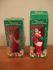 VINTAGE NOSTALGIC LOT OF 2 PARASEAL DECORATIVE Christmas AIR FRESHENERS STOCKING