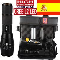 80000LM Police CREE XML XM-L L2 LED Linterna Militar táctica de la linterna