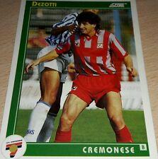 CARD SCORE 1993 CREMONESE DEZOTTI CALCIO FOOTBALL SOCCER ALBUM