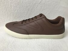TRETORN Pebbled Brown Vegan Leather Low Top Sneakers Shoes Mens 11 *NEW*
