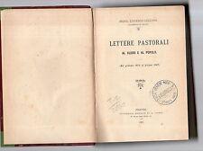 lettere pastorali al clero ed al popolo - mons eugenio cecconi -
