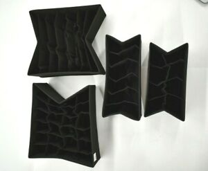 Sorbus Black Set Of 4 Foldable Drawer Dividers Moisture Proof Non Woven Fabric
