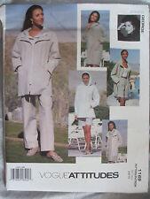 Vogue Attitudes Pattern 1169 - Jennifer George Wardrobe Szs 6 - 8 - 10 Uncut