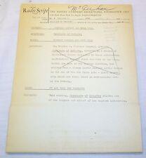 Radio Script: CAVALCADE OF INDUSTRY Historical Drama Los Angeles Soap Company