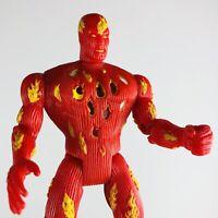 ToyBiz Marvel Fantastic Four 4 HUMAN TORCH Action Hour LOOSE Figure 1996