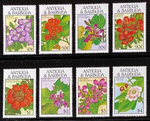 ANTIGUA  1127 - 1134  Beautiful  Mint  NEVER  Hinged  Set  FLOWERS  AG