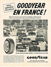 PUBLICITE ADVERTISING  1960   GOODYEAR  pneus