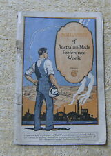 #D2. SOUVENIR BOOKLET OF AUSTRALIAN MADE PREFERENCE WEEK