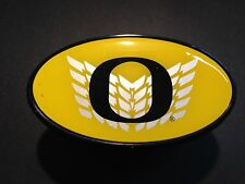 """Hitch Cover - University of Oregon YELLOW with CHROME WINGS AND BLACK """"O"""""""