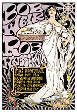 Bob Weir Poster Rob Wasserman 1991 Original Texas Tour Poster by Frank Kozik