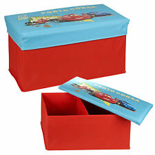 Disney Pixar Cars Lightning Ottoman Kids Storage Bench Stool Chest Lid SECONDS