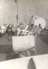 WWII German Navy Large RP- Kriegsmarine- Sailor Sit on Deck- Flag- Deck Chairs