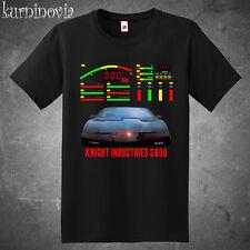 Knight Rider Kitt Dashboard Retro Tv Series Men's Black T-Shirt Size S to 3Xl